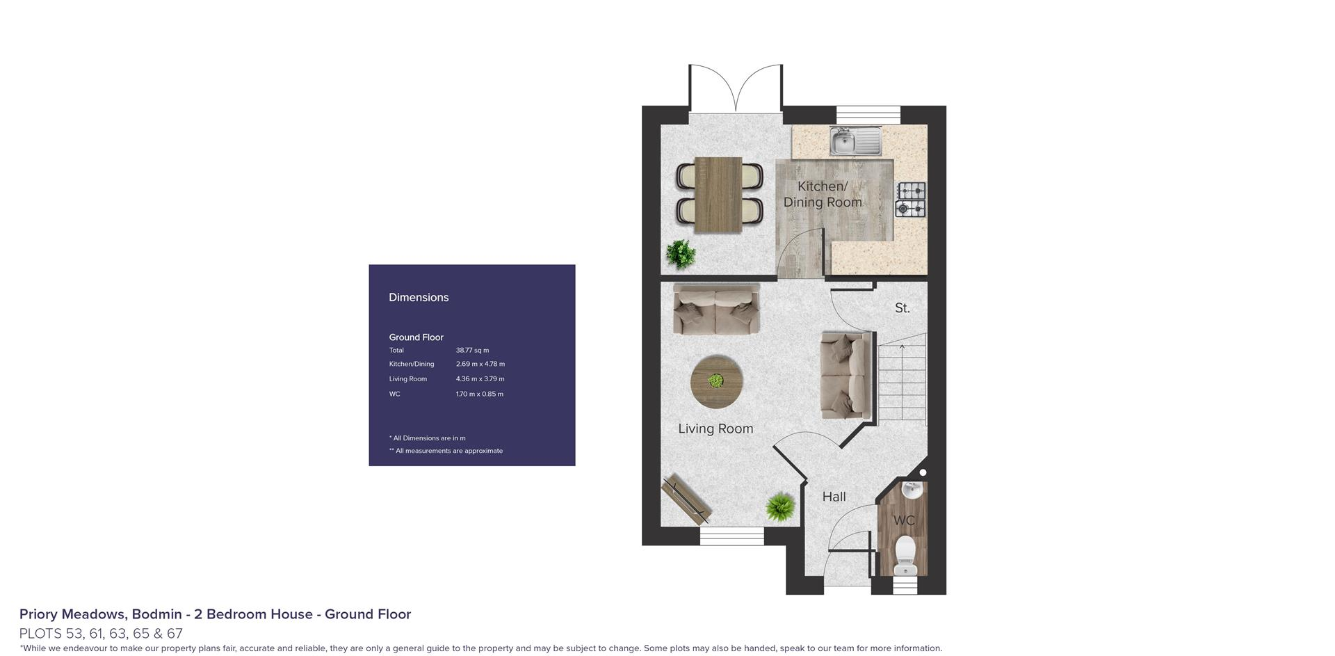 Priory Meadows, Bodmin_Plots 53, 61, 63, 65 & 67_G
